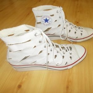 Converse Hi-Ness Cutout Women's Wedge Sneakers 10